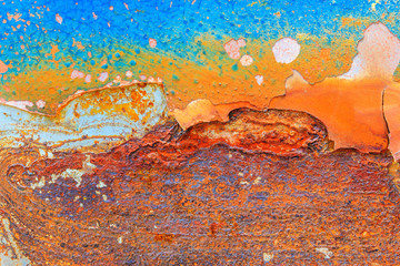 Abstract rusty metal for background