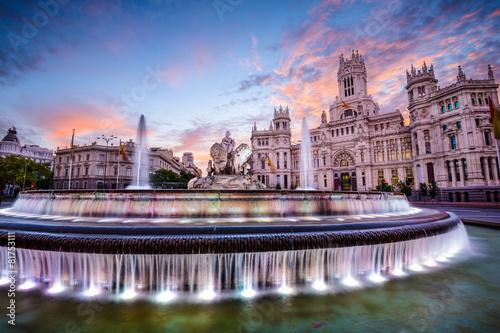 Madrid, Spain at Cibeles Plaza