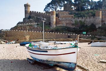 Beach of  Tossa de Mar.Catalonia.Spain,