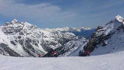 Skiing in Stubai, Austria