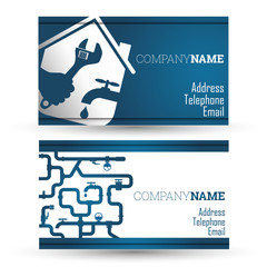 Business card repair waterpipe