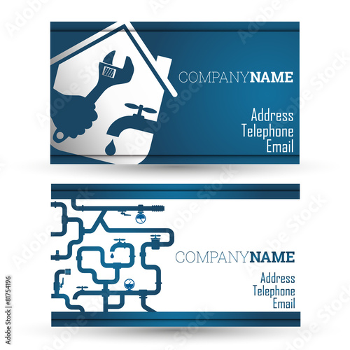 Business card repair waterpipe - 81754196