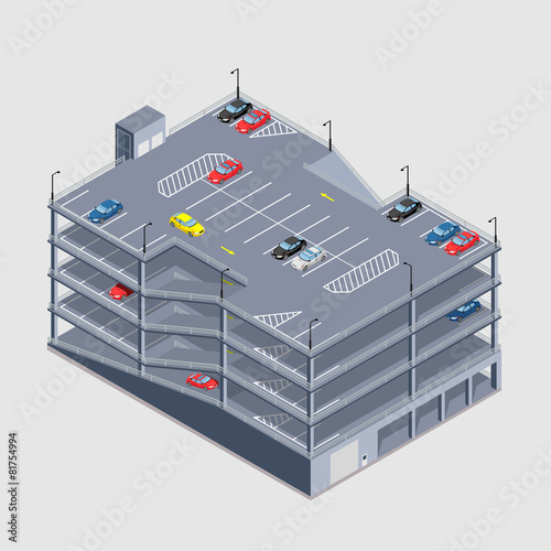 indoor multi-storey car park - 81754994