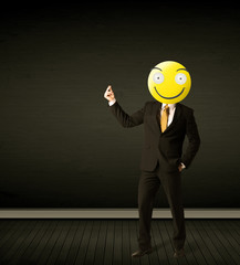 businessman with smiley face