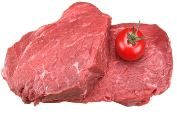 Two Fresh Beef Steak Isolated On White Background