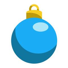 Icono bola de navidad azul