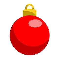 Icono bola de navidad roja