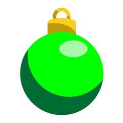 Icono bola de navidad verde