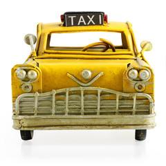 Retro toy taxi