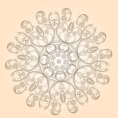 Radial floral pattern