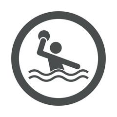 Icono redondo waterpolo gris