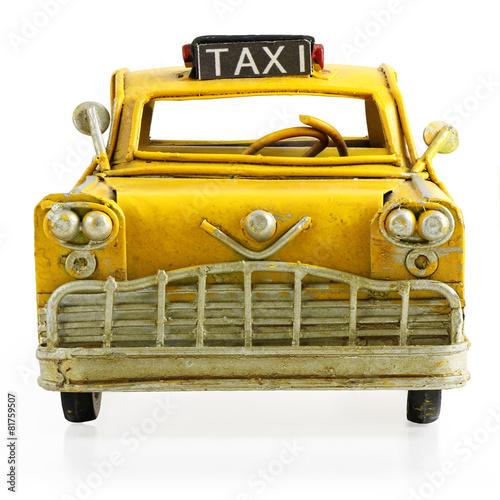 Retro toy taxi - 81759507