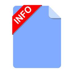 Icono documento texto INFO