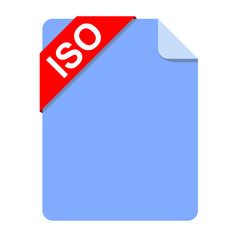 Icono documento texto ISO