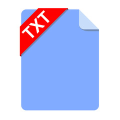 Icono documento extension TXT