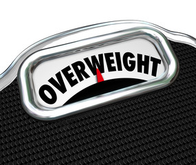 Overweight Scale Word Too Fat Overeating Lose Weight Diet