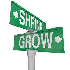 Grow Vs Shrink Words Two Way Signs Increase Vs Decrease