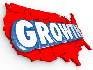 Growth Word United States America Increase Population Economy Im