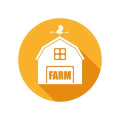 Vector Emblem with Farm House
