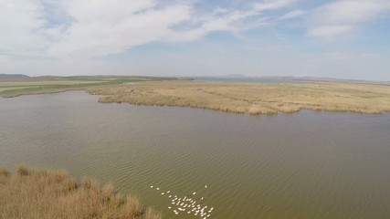 Danube Delta national park, aerial view