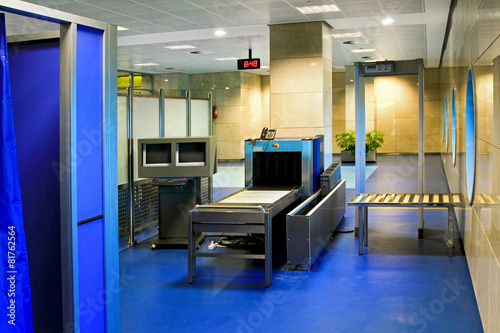 Plexiglas Luchthaven Security check