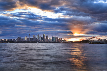 Sydney City Low Taronga Set Sun