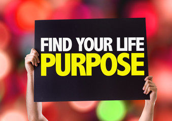 Find Your Purpose card with bokeh background