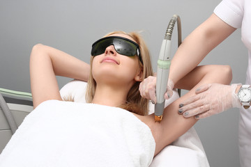 Laser hair removal epilation.