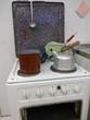 Leinwanddruck Bild - Küchenherd im Stil der 50er Jahre - Bild -