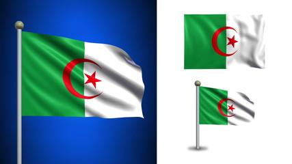 Algeria flag - with Alpha channel, seamless loop!
