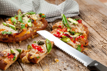 spargel pizza brot