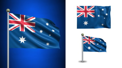 Australia flag - with Alpha channel, seamless loop!
