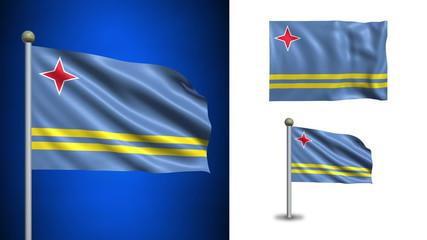 Aruba flag - with Alpha channel, seamless loop!