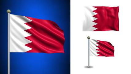 Bahrain flag - with Alpha channel, seamless loop!