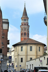 Milano campanile  di San Gottardo in Corte - Palazzo Reale