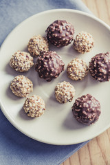Chocolate Balls on the table
