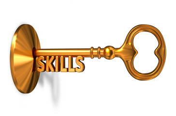 Skills - Golden Key is Inserted into the Keyhole.