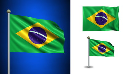 Brazil flag - with Alpha channel, seamless loop!