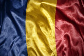shining romanian flag