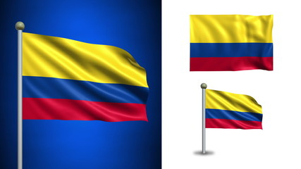 Colombia flag - with Alpha channel, seamless loop!