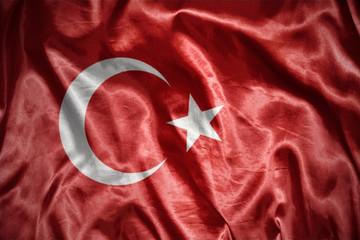 shining turkish flag