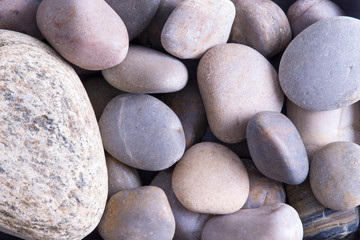 Background texture of smooth oceanic stones