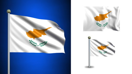 Cyprus flag - with Alpha channel, seamless loop!