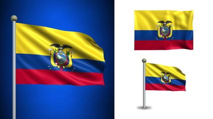 Ecuador flag - with Alpha channel, seamless loop!