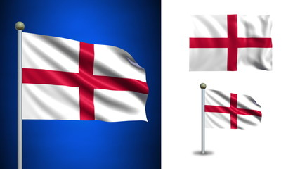 England flag - with Alpha channel, seamless loop!