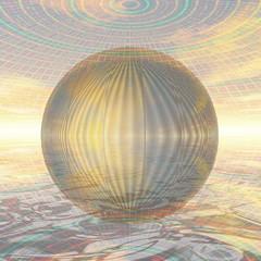 metal ball in spherical environment