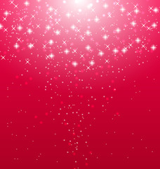 Abstract pink  illuminated background with shiny stars