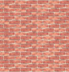 Brown brick wall, grunge texture background