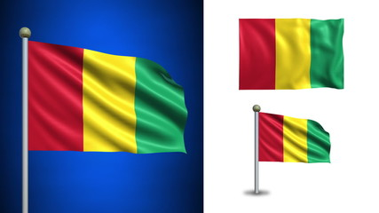Guinea flag - with Alpha channel, seamless loop!