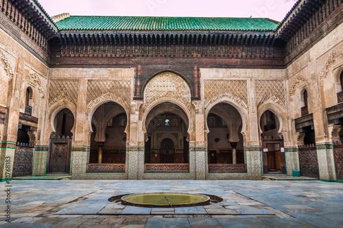 Foto op Aluminium Marokko Madrasah in Fez Morocco